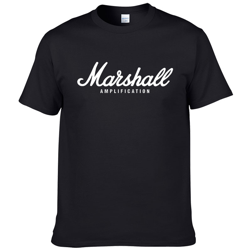 100% cotton Marshall T Shirt men short sleeves tee hip hop street wear for fans hipster 2