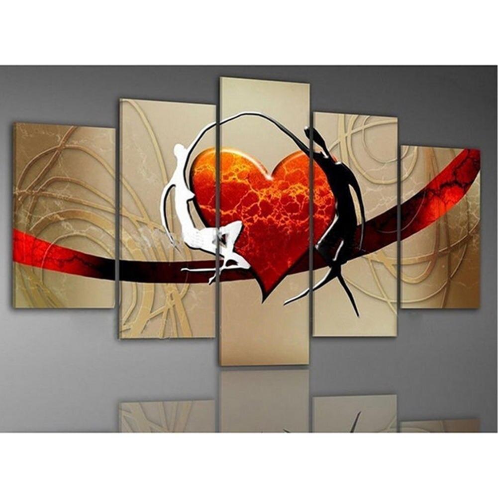 buy no frame 5pcs set hand painted oil. Black Bedroom Furniture Sets. Home Design Ideas
