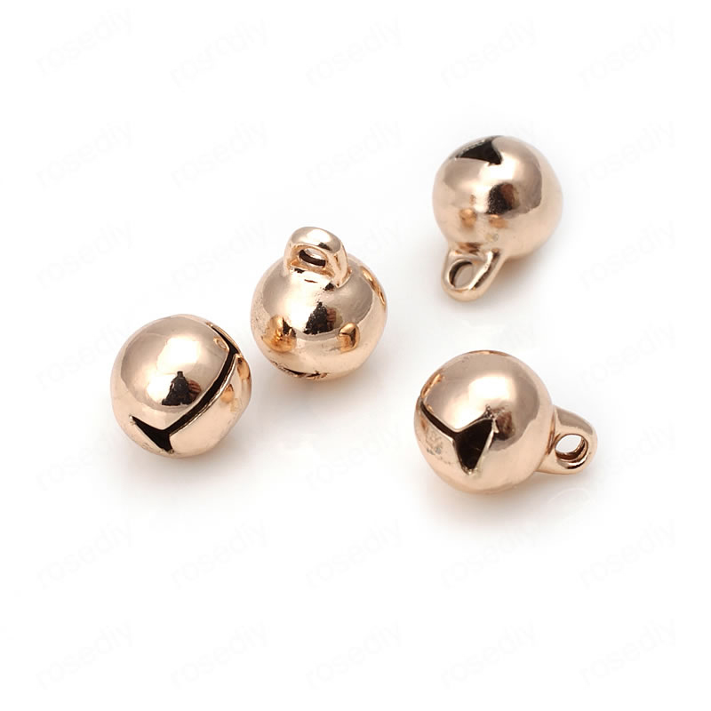 Beads Knowledgeable 10pcs 6mm 8mm 10mm 24k Champagne Gold Color Plated Brass Bell Beads Bracelet Charms High Quality Diy Jewelry Accessories Jewelry & Accessories