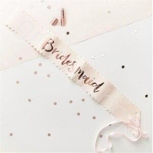 Image 3 - チーム花嫁はローズゴールドサッシ編独身パーティーの装飾ウェディングブライダルショルダー結婚花嫁はパーティー用品