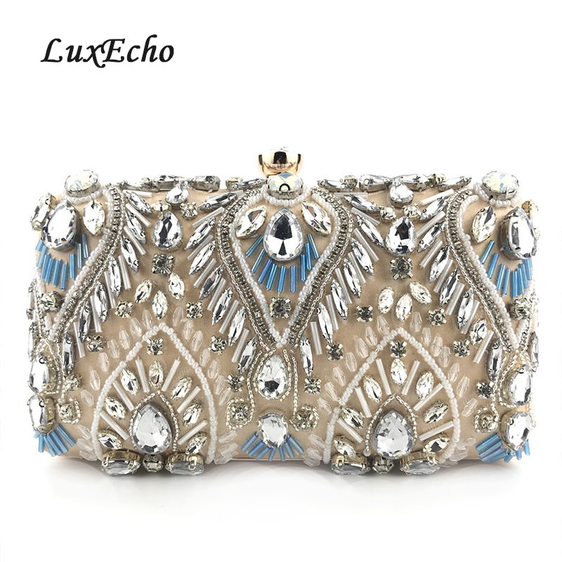 Day Clutches Purse-Bags Wedding-Purse Crystal Fashion Women Diamonds Party Champagne