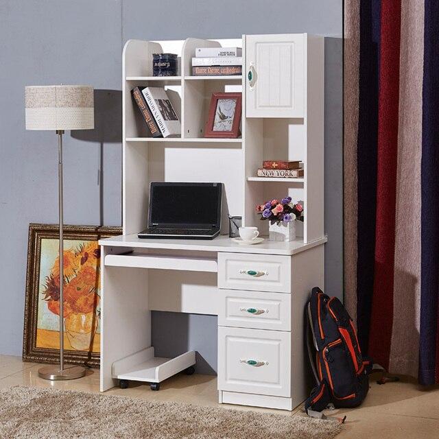 Super Verf desktop computer bureau thuis met een boekenplank kast &QY95
