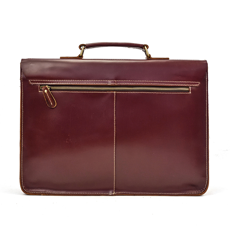 """HTB1Yu47DNSYBuNjSsphq6zGvVXaE Vintage Men's Genuine Leather briefcase 16"""" Cowhide Business bag Cow leather Laptop Double Layer messenger bag PC work tote"""
