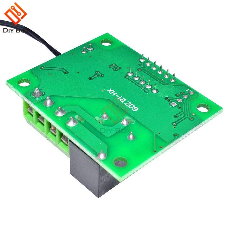 W1209 Красный светодиодный цифровой термостат контроль температуры термометр термо контроллер переключатель модуль DC 12 В водонепроницаемый ...