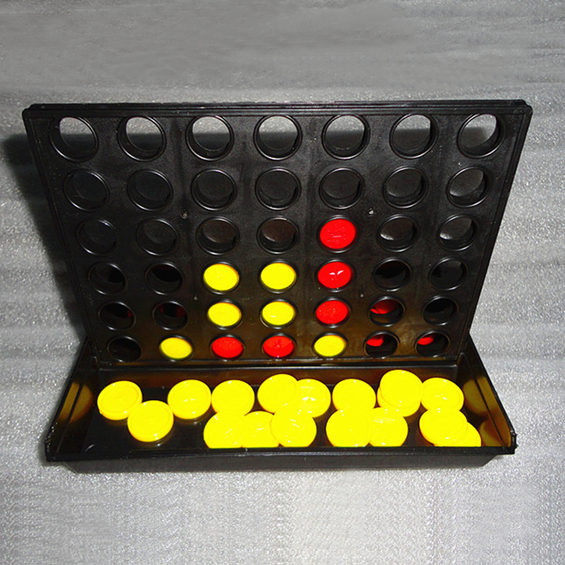 2018 newest 1 Set Connect 4 In A Line Board Game Children's Educational Toys for Kid Sports Entertainment plastic intelligent connect four game set