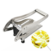 Stainless Steel Manual French Fry Cutters Kitchen Accessories Easy Slicing Banana Fruits Potato Chopper Fruit Vegetable Tools