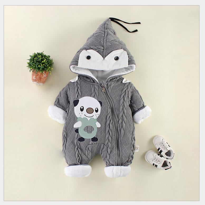 Children's warm climbing clothes with thick cotton yarn(China)