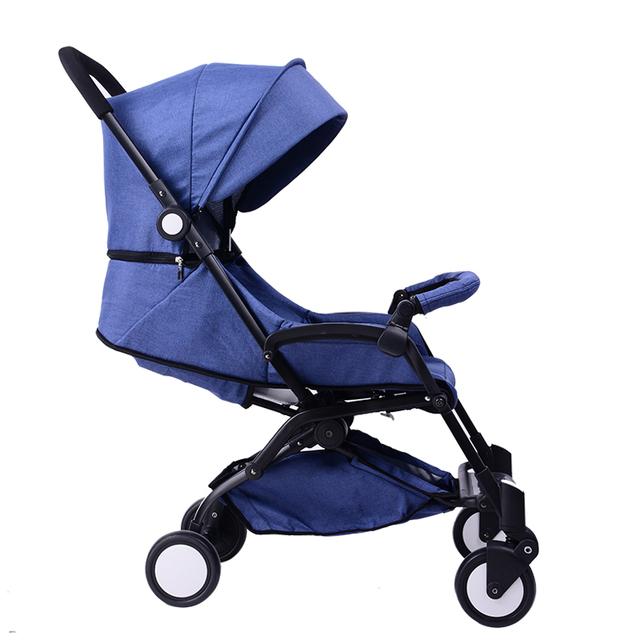 Ultra portátil cochecito plegable puede sentarse y mentira la mano de choque de cuatro ruedas paraguas coche cochecito de bebé