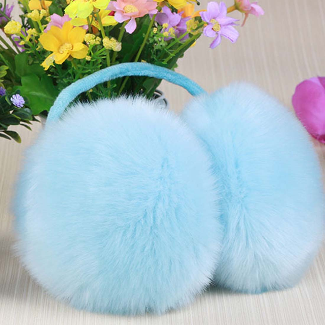 YJSFG HOUSE Adult Children Earmuffs Winter Classic Ear Cover Plush Fuzzy Faux Fur Warm Big Earmuff Fashion Girls Snow Outwear