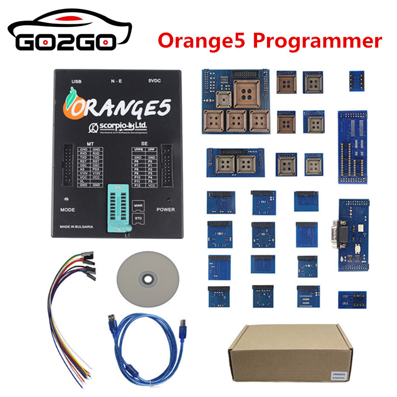 11.11 Promotion Orange5 Lowest Price Programmer OEM With Full Adapter orange5 programmer High Quality Orange 5 Free Shipping free shipping id 48 can chip for vw 10pc lot with lowest price