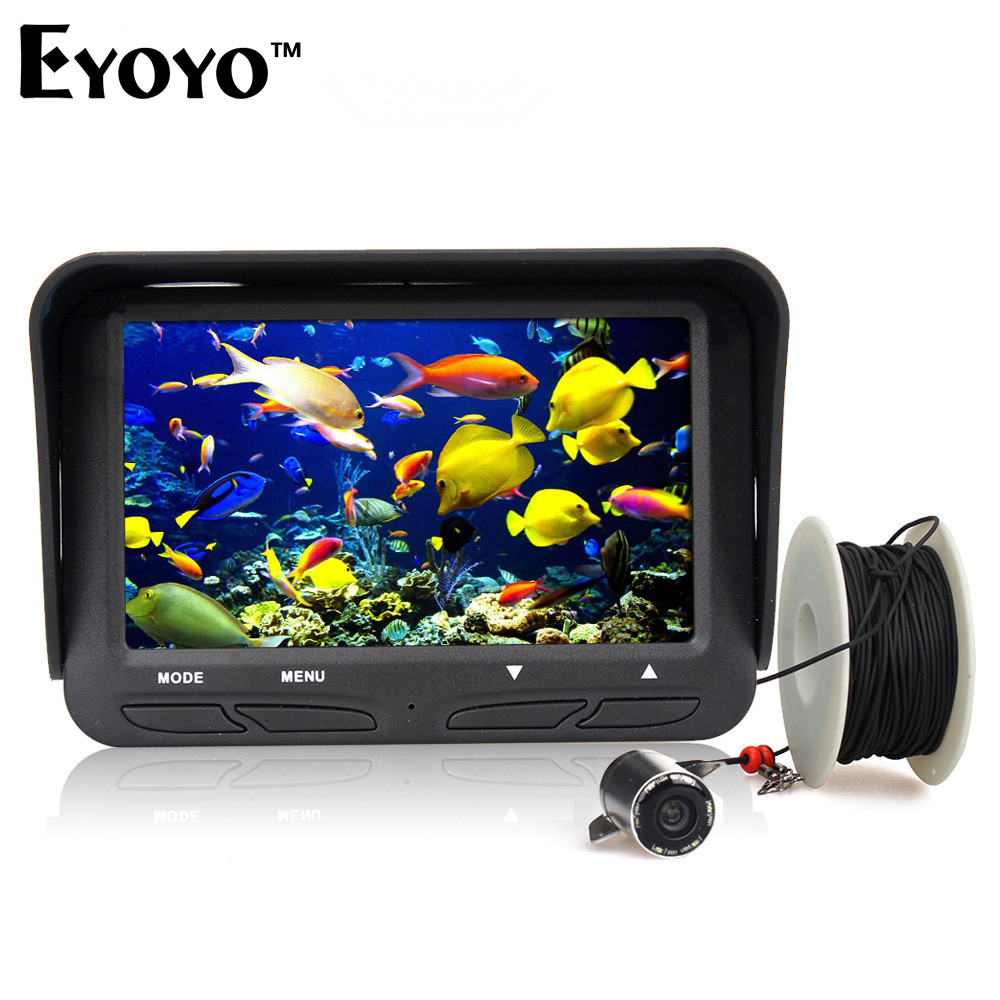 Eyoyo D'origine 30 m 720 P Professional Fish Finder Sous-Marine Glace De Pêche Caméra Night Vision 6 LED Infrarouge 4.3 pouce LCD Moniteur