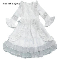 Lovely Ivory Long Trumpet Sleeves Lace Communion Dresses 2018 Floor Length Kids Girls Beaded Party Prom Gowns Robes de communion