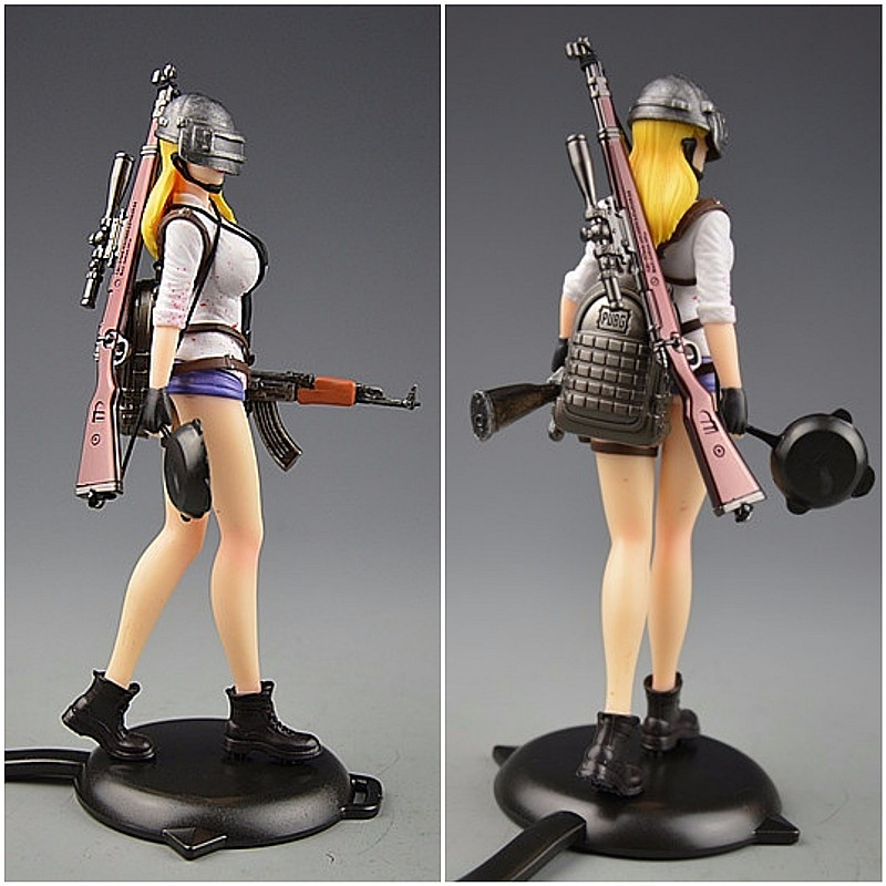 PUBG Playerunknown's Battlegrounds Around 6 inch doll Female characters figure spot to eat chicken tonight plastic model