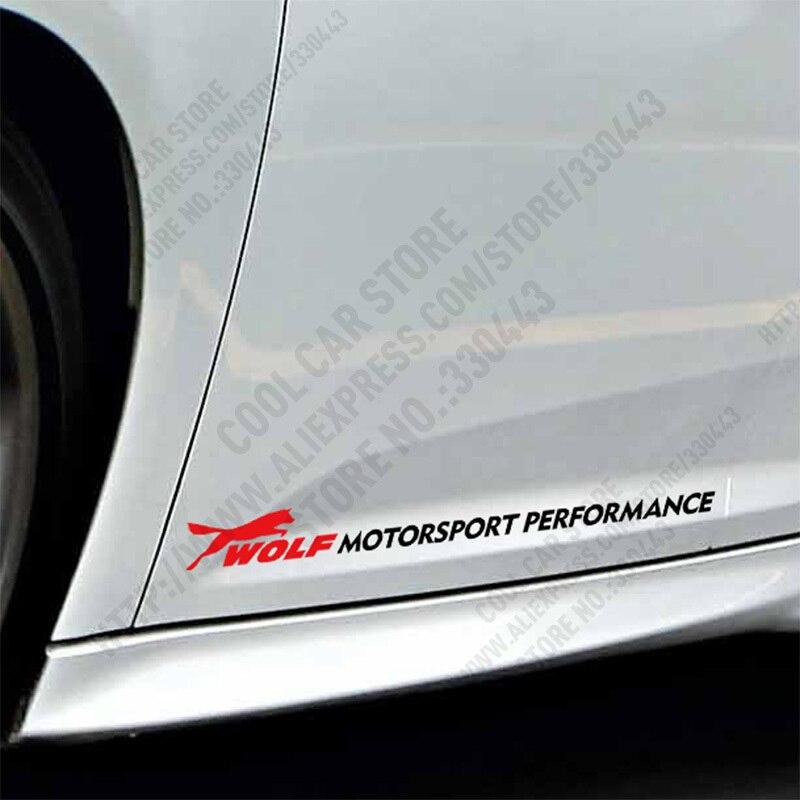 10 Pairs Wolf MOTORSPORT PERFORMANCE Car Door sticker For FORD FOCUS 2 focus 3 Mondeo Fiesta Kuga MK2 MK3