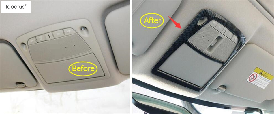 Accessories For Nissan X-Trail X Trail T32 Rogue 2014 2015 2016 2017 2018 Upper Roof Reading Light Lamp Molding Cover Kit Trim abs chrome door body side molding trim cover for nissan x trail x trial xtrail t32 2014 2015 2016 2017 car styling accessories
