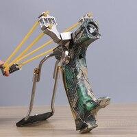 Мощный Рогатка фонарик катапульта сильный sling shot Охота Стрельба спорта на открытом воздухе в ночное время набор инструментов Высокое качес