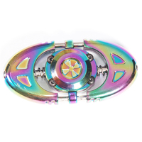 Multicolor Spring Toy High Speed Hand Spinner New Design Metal Tri Fidget Spinner Anti Stres Toys