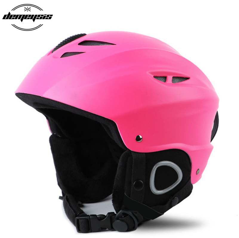 Men Women Half-covered Skiing Helmets Outdoor Sport Integrally-Molded Snowboard Skateboard Skating Ski Helmet все цены
