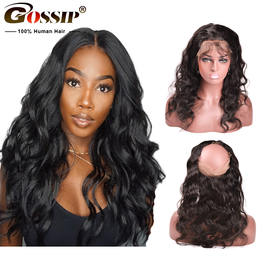 Remy Hair Body Wave 360 Lace Frontal Closue Brazilian Hair 360 Lace Frontal Pre Plucked 100