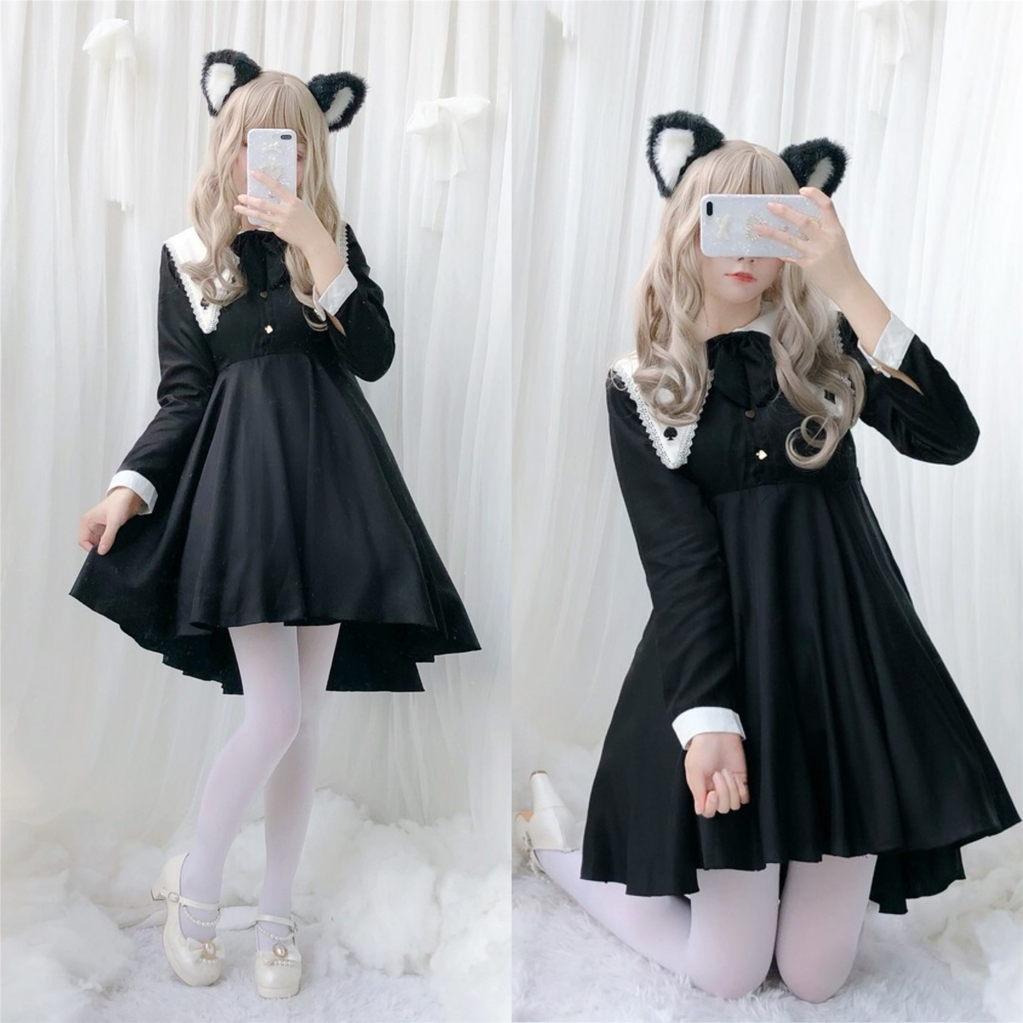 Japanese kawaii girl magician handsome sweet <font><b>lolita</b></font> <font><b>dress</b></font> vintage lace bowknot swallow tail victorian <font><b>dress</b></font> gothic <font><b>lolita</b></font> op cos image