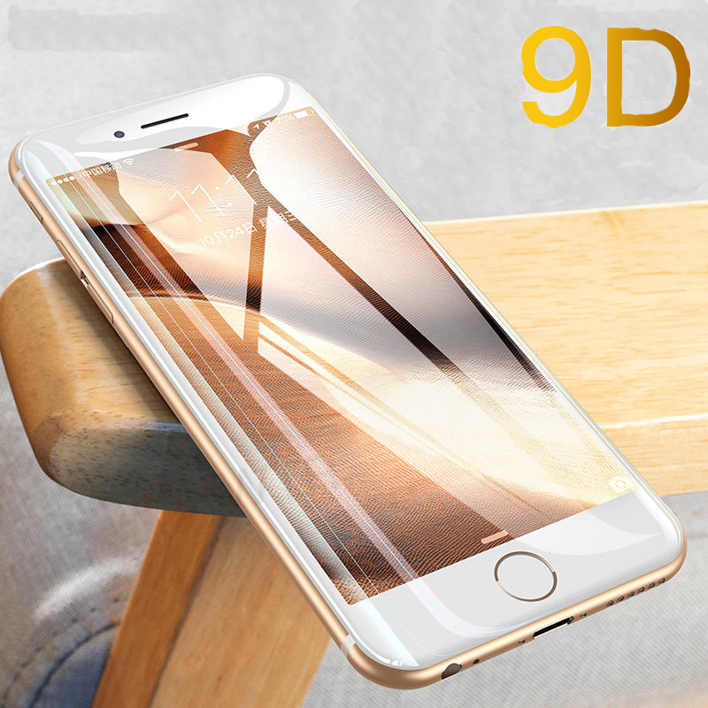 9D Full Cover Tempered Glass For IPhone 8 7 6 8plus 7plus 6plus Protective Glas For IPone8 7 6 Apple Plus Screen Protector Film