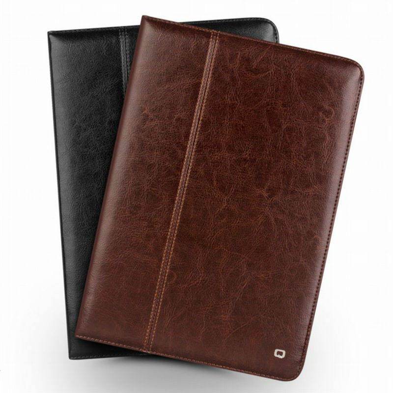 Qialino For New iPad 2017 9.7 inch Tablet Case Genuine Leather Stents Dormancy Stand Cover Fundas for Apple iPad Pro 9.7 air 2 universal pu leather case for 9 7 inch 10 inch 10 1 inch tablet pc stand cover for ipad 2 3 4 air 2 for samsung lenovo tablets