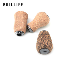 BRILLIFE 2pcs/lot DIY Fishing Reel Handle Knob Cork Handle Knob 2 Ball Bearings for Shimano Daiwa Reel