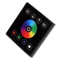 Бесплатная доставка настенный акриловые 4 Каналы touch Панель контроллер для RGBW Светодиодные ленты огни DC12V-24V