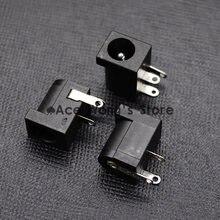 10 pces DC-005 preto dc power jack soquete conector dc005 5.5*2.1mm 2.1 soquete em torno da agulha