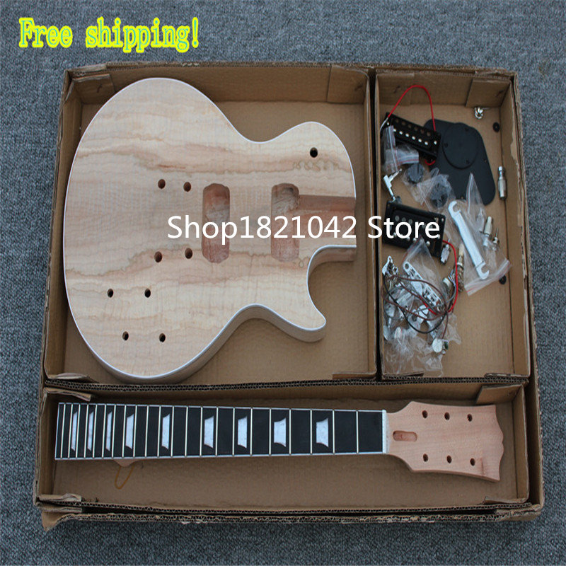 HOT!! High quality hand made solid body LP Semi-finished products electric guitar, Free shipping,GB Style.Factory direct sale hot sale top quality white lp custom guitar with golden hardware electric guitar free shipping white color