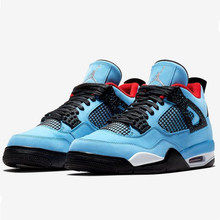 8a3bf5da1a2 New Jordan 4 Man Basketball Shoes Houston Oilers Travis Scott Pure Money  White Cement Athletic Outdoor Sport Sneakers 41-46