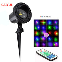 Christmas RGB 20 Patterns Laser Projector RF Remote Red Green Blue Showers Lights Outdoor Waterproof IP65 Xmas Garden Landscape