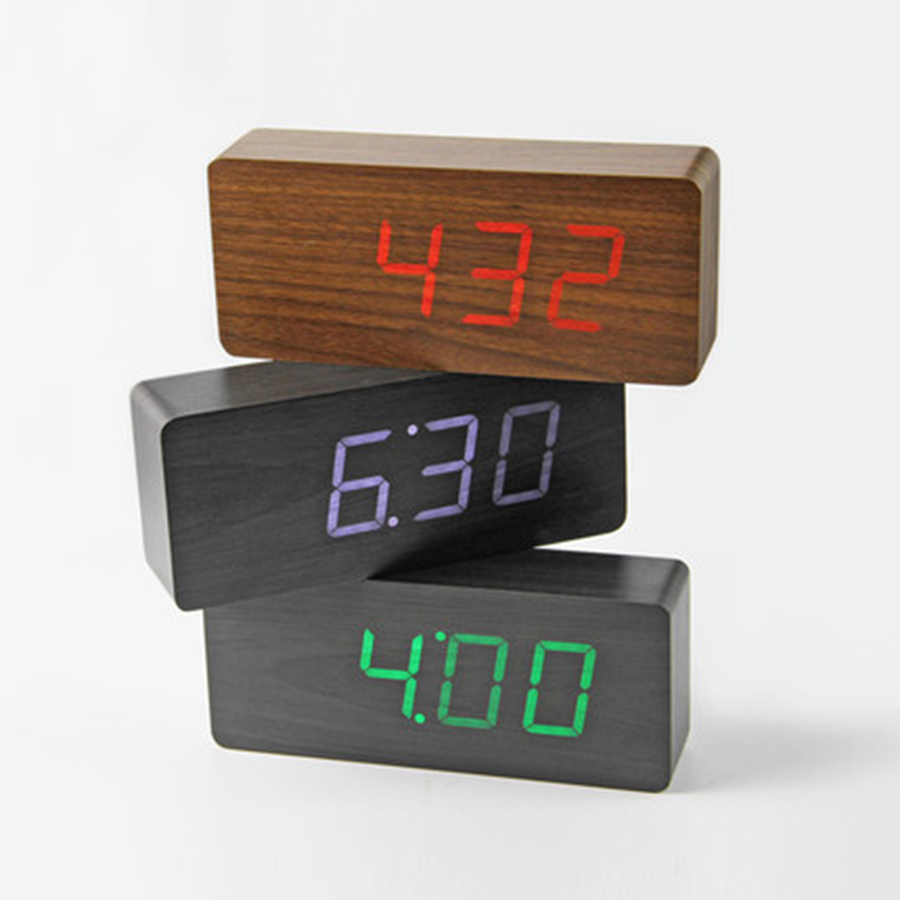 De chevet Multifonction Alarme Horloge Led Nuit Lumière Bureau Gadgets Termometro Numérique Table Horloge Reveil Bureau Gadget 50A0148