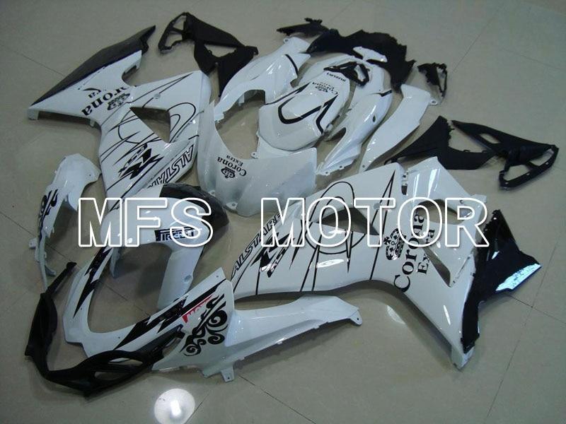 For Suzuki GSXR 1000 K9 2009 2010 2011 2012 2013 Injection ABS Fairing Kits GSXR1000 K9 09-13 - Corona - White/Black for suzuki gsxr1000 upper stay fairing bracket 2011 gsxr 1000 k9 2009 2010