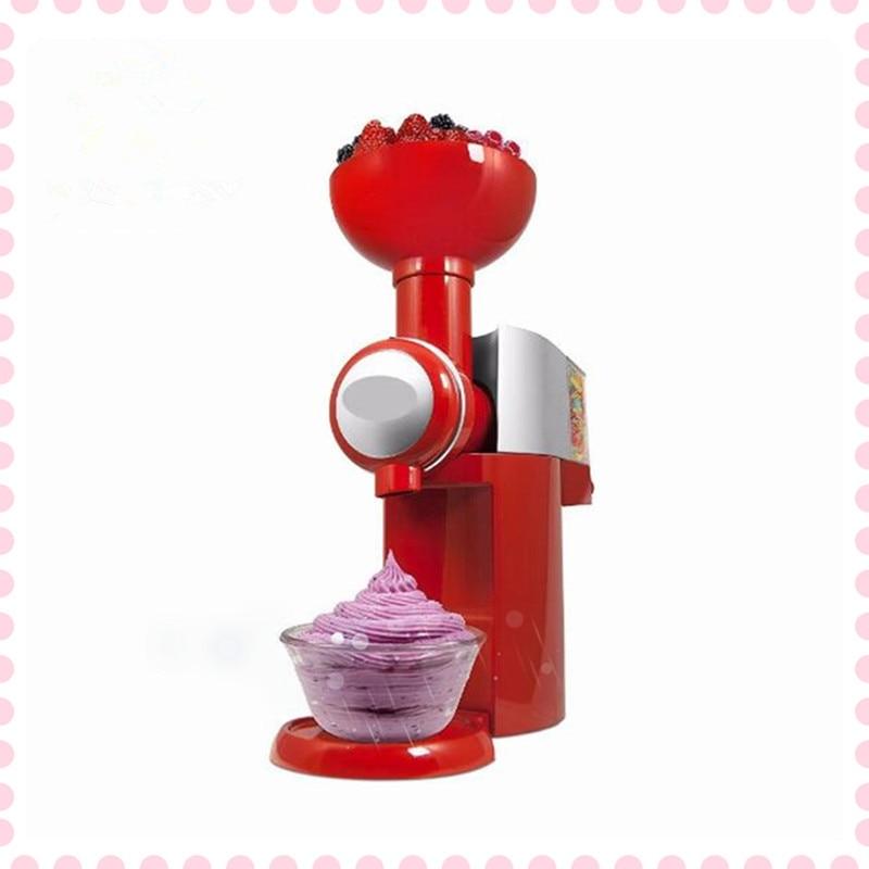 Automatic  Fruit Ice Cream Machine Maker Frozen Fruit Dessert Machine Milkshake Machine for Children square pan frozen rolling fried ice cream machine 50cm diameter