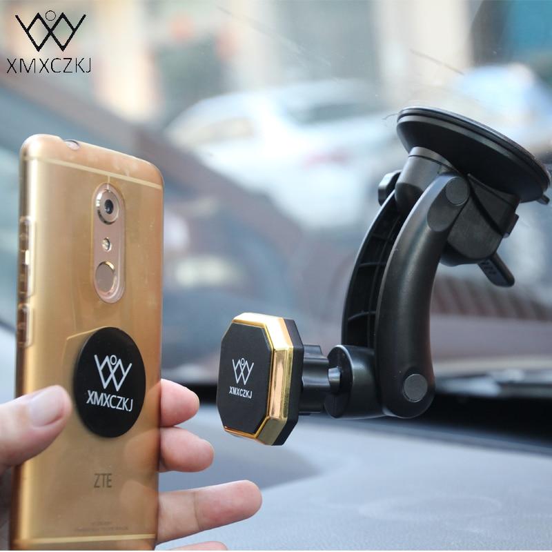 XMXCZKJ Car Phone Holder Magnetic Mount Holder 360 Rotation Suction Mount Car Windshield Holder For iPhone 11 Samsung Smartphone