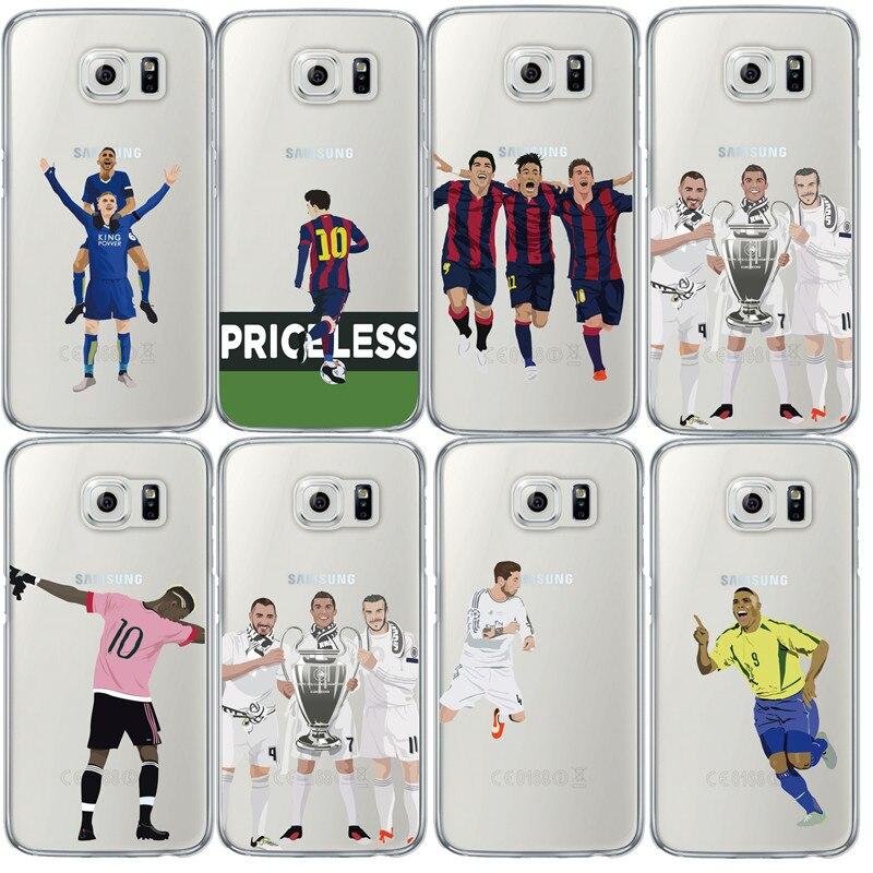 Ultra Mince Football Clair Tu00e9lu00e9phone Cas pour Samsung Note 4 5 S4 5 ...