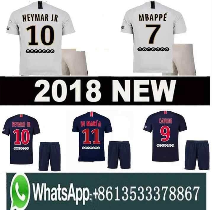 ad4a54e081331 18 19 MBAPPE PSG soccer jersey uniform set 2018 2019 Paris CAVANI saint  germain DANI ALVES