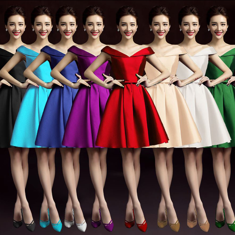 Robe demoiselle d'honneur new satin sexy V neck A Line turquoise royal blue burgundy gold pink champagne   bridesmaid     dresses