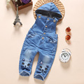 new 2016 autumn girls cartoon cat denim overall baby girl jeans pant children clothing girls fashion hoody