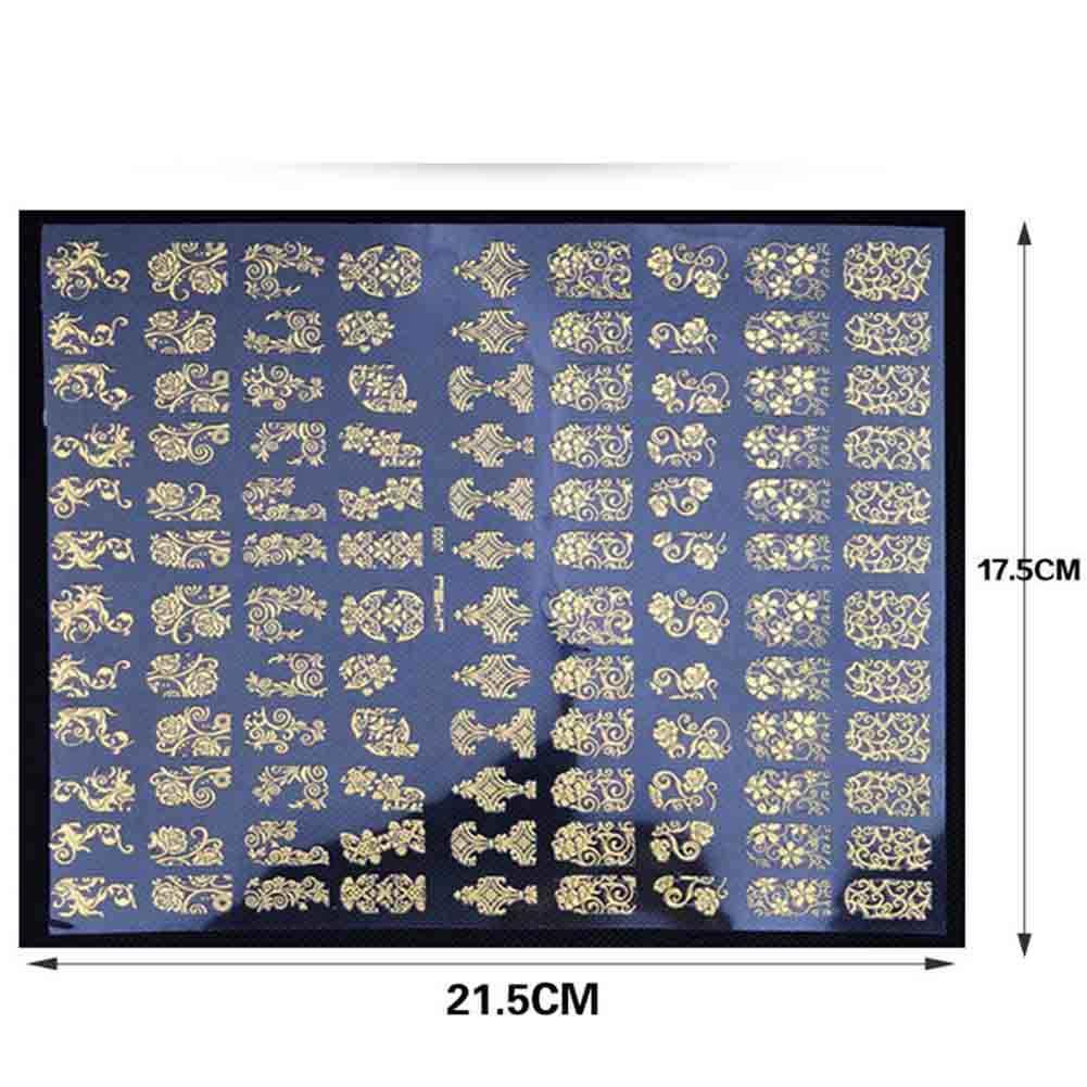 Стикер для дизайна ногтей 3D металлический полый золотой цветок лист кружево своими руками маникюр ногти искусство подарок QS888