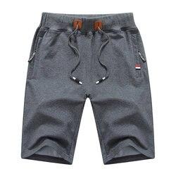 Летние новые хлопковые повседневные шорты для мужчин, однотонные мужские бермуды, удобные мужские пляжные шорты