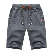 Summer New Cotton Casual Shorts Men Solid Mens