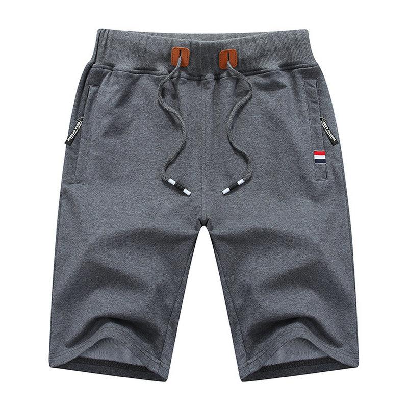 d71f8936563 Cheap Verano nuevos pantalones cortos casuales de algodón hombres sólidos  hombres Bermudas pantalones cortos cómodos hombres