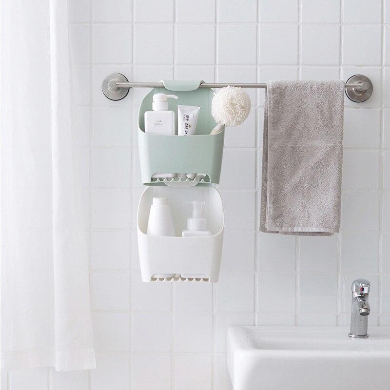 Strong Bathroom Storage Shelf Rack Plastic Bathroom Toilet Corner Storage Rack Organizer Hanging Shower Shelf Bath Storage in Makeup Organizers from Home Garden