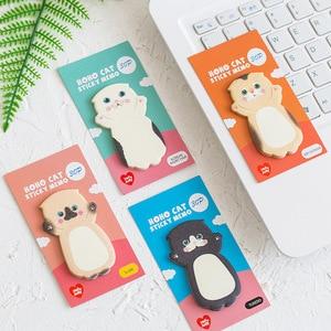 Image 3 - 32 teile/los Cartoon katze memo pad Kawaii kitties haftnotizen marker aufkleber Schreibwaren büro zubehör Schule liefert F044