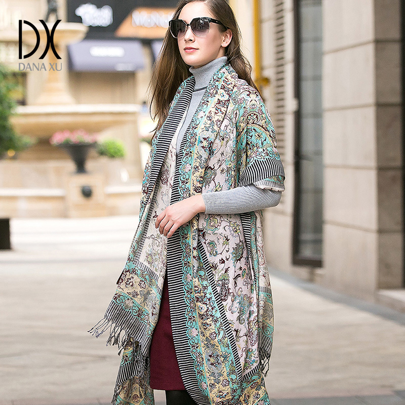2017 Winter Luxury Scarf Women s Scarves Face Shield Cashmere Plaid Blanket New Designer Wool and