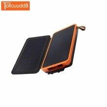 Tollcuudda Portable Chargeur Solaire Power Bank 16000 mah Externe Batterie Pour Téléphone Xiaomi 2 Iphone De Charge PoverBank Double USB LED