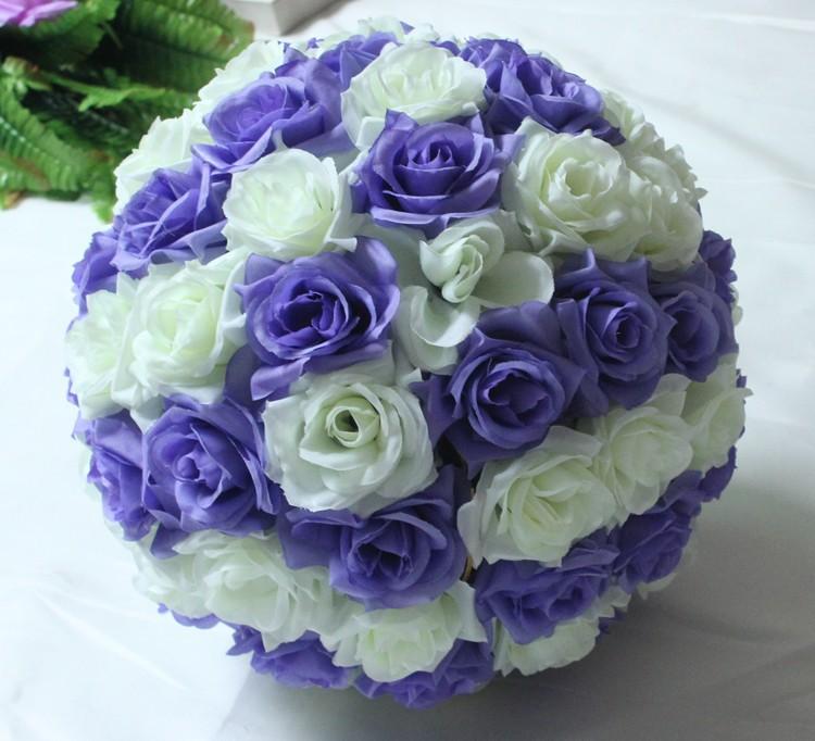 10inch (25cm) Wedding Kissing Balls Pomanders Romantic Silk Flower Kissing Balls Factory Wholesale (9)