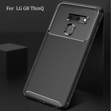 For LG G8 ThinQ Case Soft Silicon Back Cover Carbon Fiber TPU Shockproof Case For LG G8 ThinQ Phone Coque Cases  - buy with discount